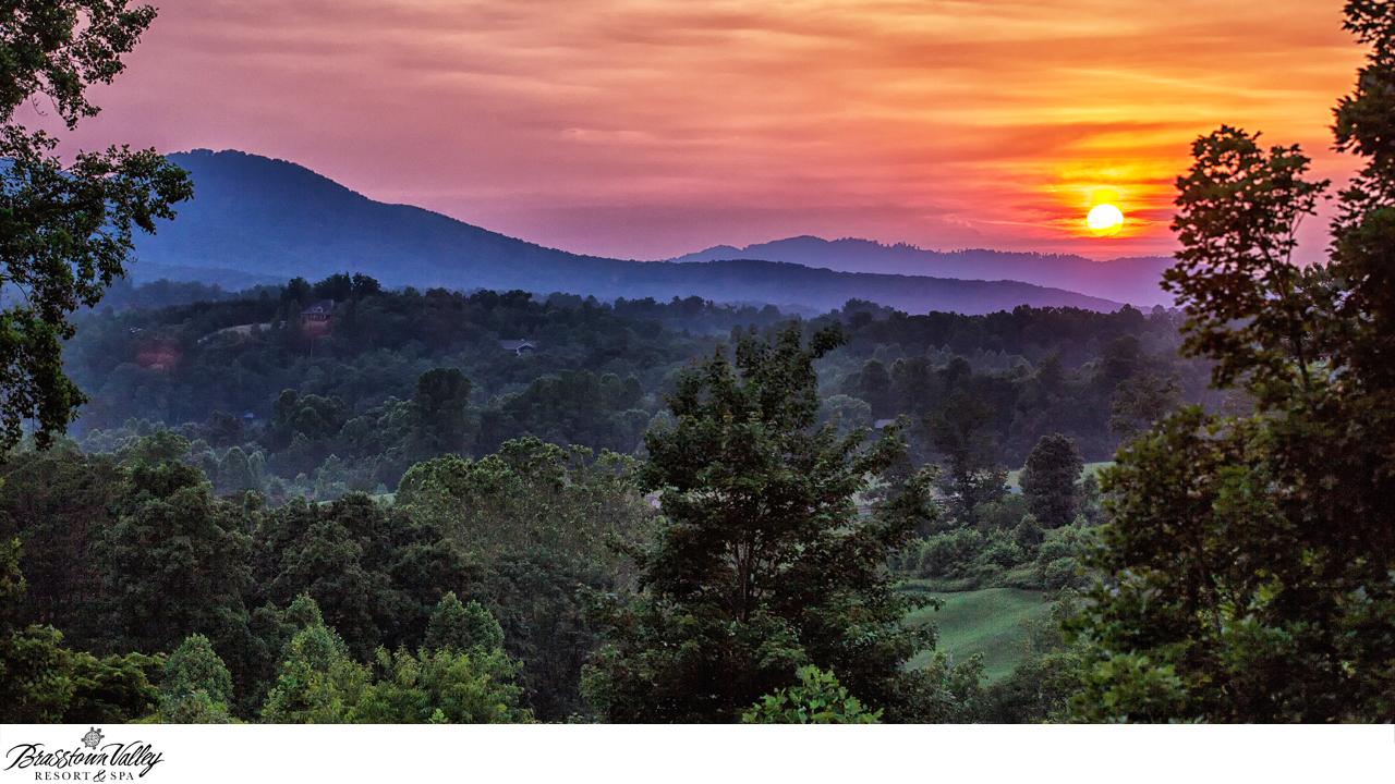 Sunset at Brasstown Valley Resort Zoom Background